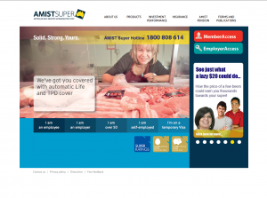 AMIST Super website design